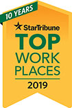 Minneapolis Star Tribune Top Work Places 2019 Logo