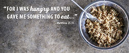 FMSC Facebook cover - For I was hungry and you gave me something to eat - Matthew 25:35