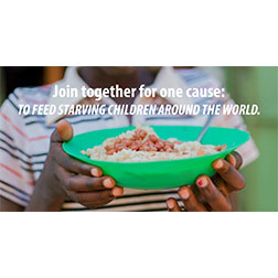 FMSC Facebook post - Join together for one cause: to feed starving children around the world.