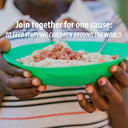 FMSC Instagram post - Join together for one cause: to feed starving children around the world.