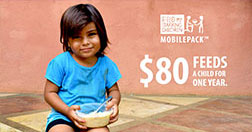 $80 feeds a child for one year