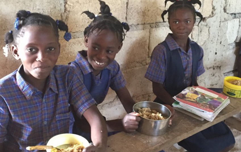 In Haiti: Daily School Meals Improve Grades